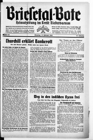 Briesetal-Bote on Feb 17, 1942