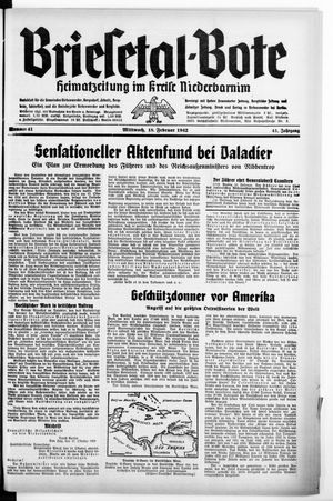 Briesetal-Bote vom 18.02.1942
