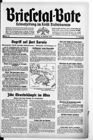 Briesetal-Bote on Feb 20, 1942