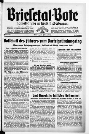 Briesetal-Bote on Feb 25, 1942