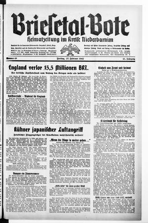 Briesetal-Bote vom 27.02.1942