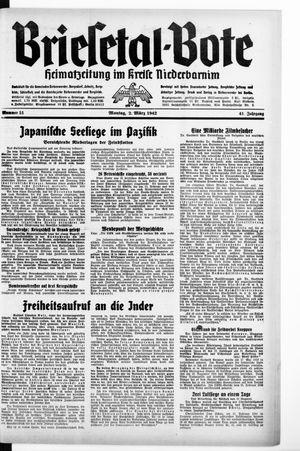 Briesetal-Bote vom 02.03.1942