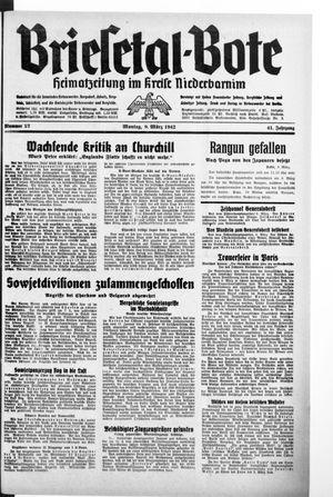 Briesetal-Bote vom 09.03.1942