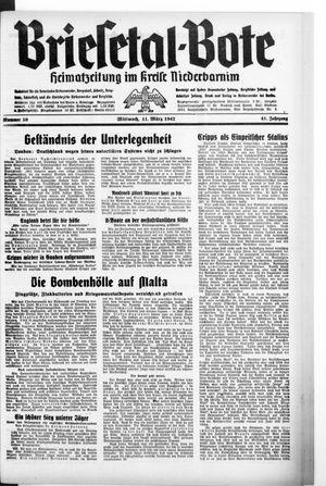 Briesetal-Bote vom 11.03.1942