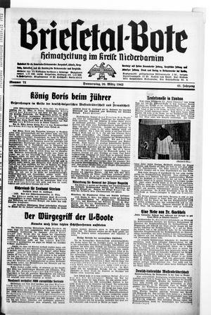 Briesetal-Bote vom 26.03.1942