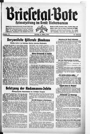 Briesetal-Bote vom 27.03.1942