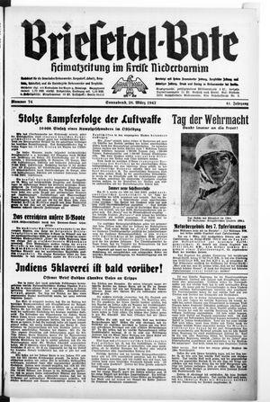 Briesetal-Bote vom 28.03.1942