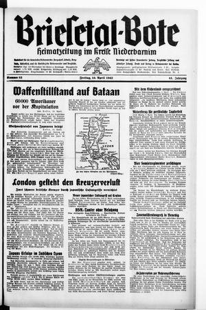 Briesetal-Bote vom 10.04.1942
