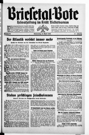 Briesetal-Bote vom 16.04.1942