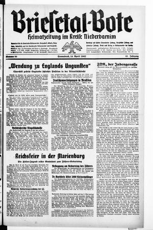 Briesetal-Bote vom 18.04.1942