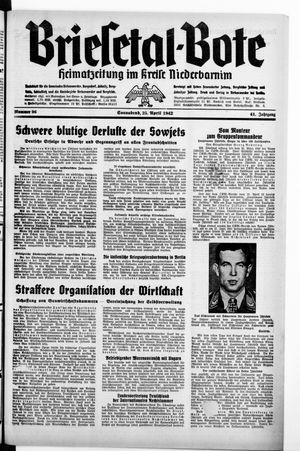 Briesetal-Bote vom 25.04.1942