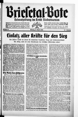 Briesetal-Bote vom 27.04.1942