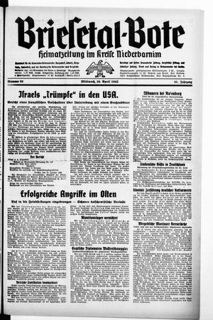 Briesetal-Bote vom 29.04.1942