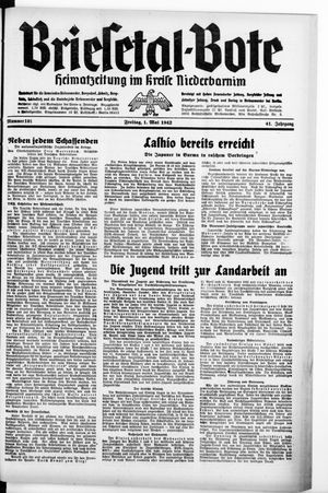 Briesetal-Bote vom 01.05.1942