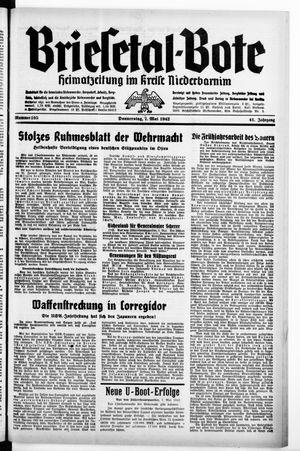 Briesetal-Bote vom 07.05.1942