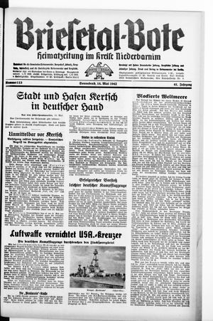 Briesetal-Bote vom 16.05.1942
