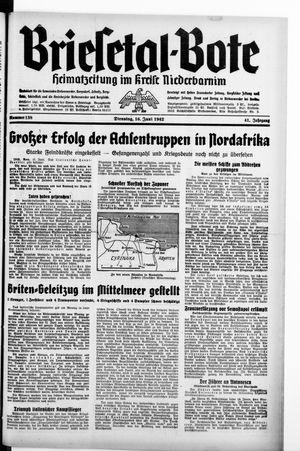 Briesetal-Bote vom 16.06.1942