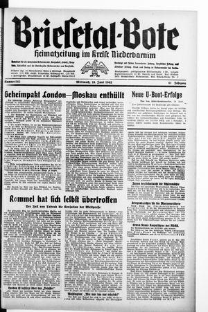 Briesetal-Bote vom 24.06.1942