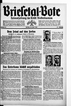 Briesetal-Bote vom 26.06.1942