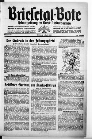 Briesetal-Bote vom 01.07.1942