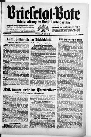 Briesetal-Bote vom 07.07.1942