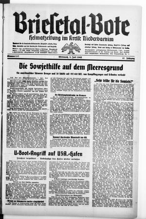 Briesetal-Bote vom 08.07.1942