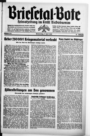 Briesetal-Bote vom 09.07.1942
