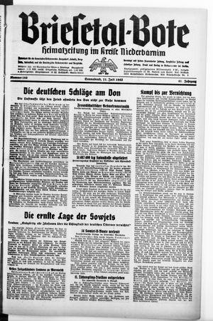 Briesetal-Bote vom 11.07.1942