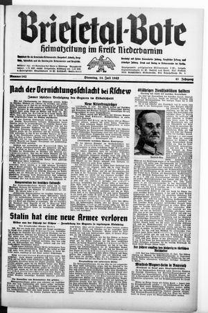Briesetal-Bote vom 14.07.1942