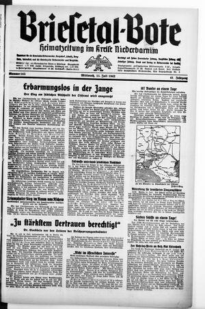 Briesetal-Bote vom 15.07.1942