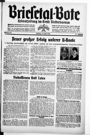 Briesetal-Bote vom 17.07.1942