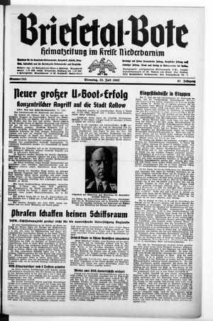 Briesetal-Bote vom 21.07.1942