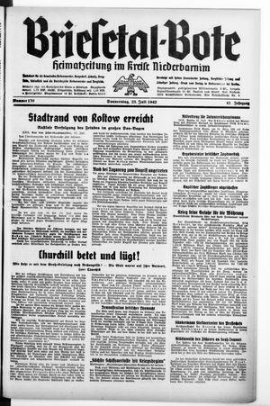 Briesetal-Bote vom 23.07.1942