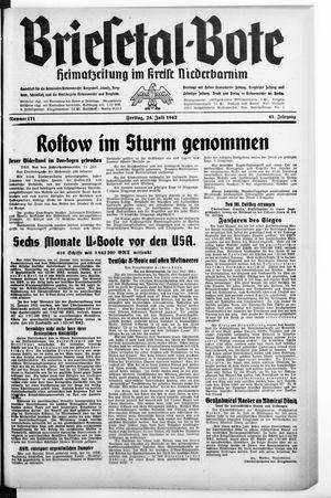 Briesetal-Bote vom 24.07.1942