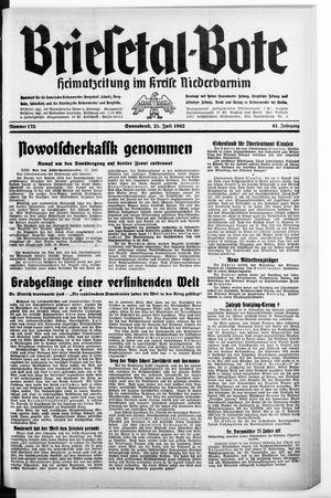 Briesetal-Bote vom 25.07.1942