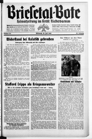 Briesetal-Bote vom 29.07.1942