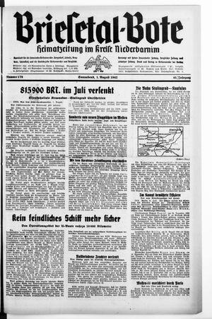 Briesetal-Bote vom 01.08.1942