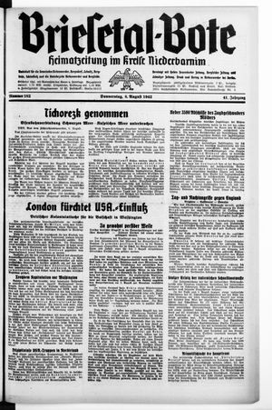 Briesetal-Bote vom 06.08.1942