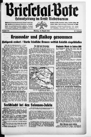 Briesetal-Bote vom 10.08.1942