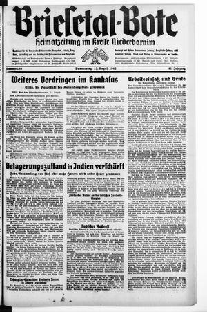 Briesetal-Bote vom 13.08.1942