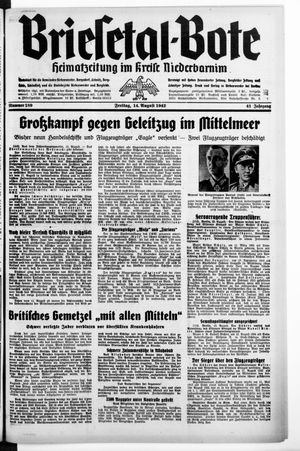 Briesetal-Bote vom 14.08.1942