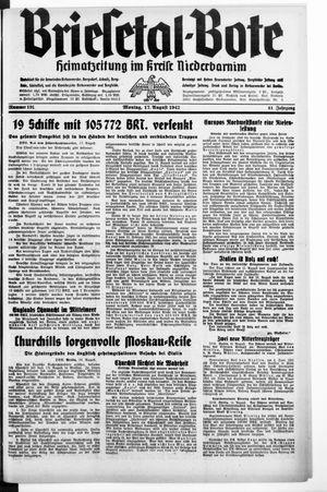 Briesetal-Bote vom 17.08.1942