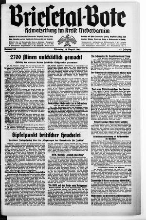 Briesetal-Bote vom 18.08.1942