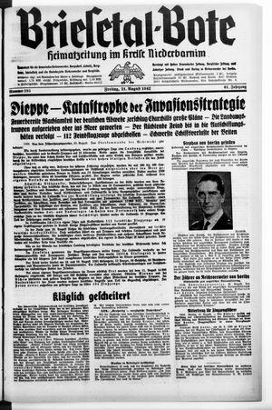 Briesetal-Bote vom 21.08.1942