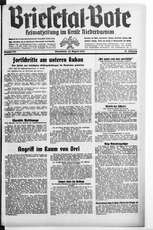 Briesetal-Bote vom 22.08.1942
