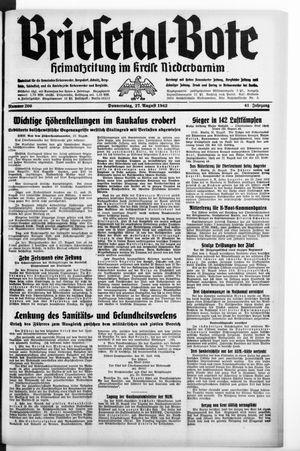 Briesetal-Bote vom 27.08.1942