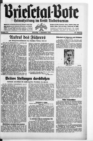Briesetal-Bote on Sep 1, 1942