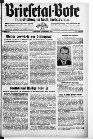 Briesetal-Bote vom 03.09.1942