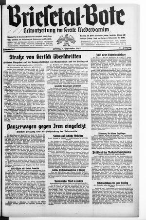 Briesetal-Bote vom 04.09.1942