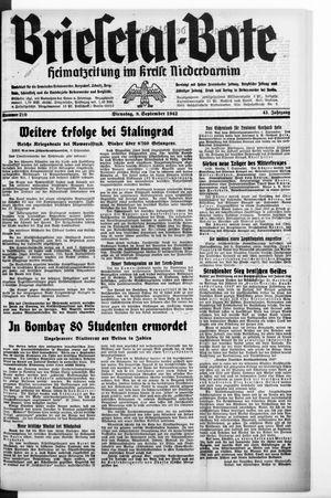 Briesetal-Bote vom 08.09.1942